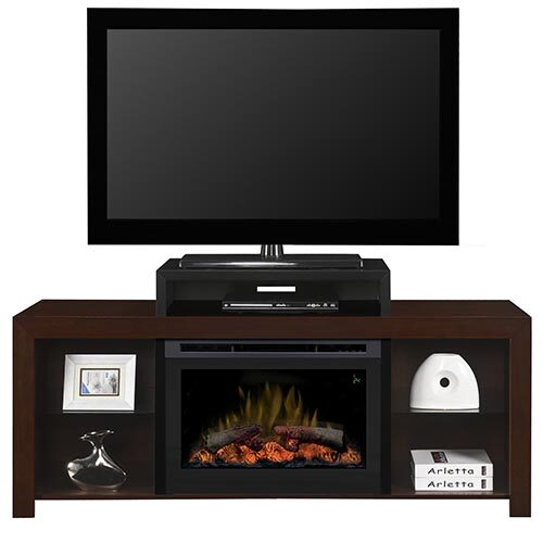 Galveston Wall Mounted Electric Fire With Glass Flame Bed