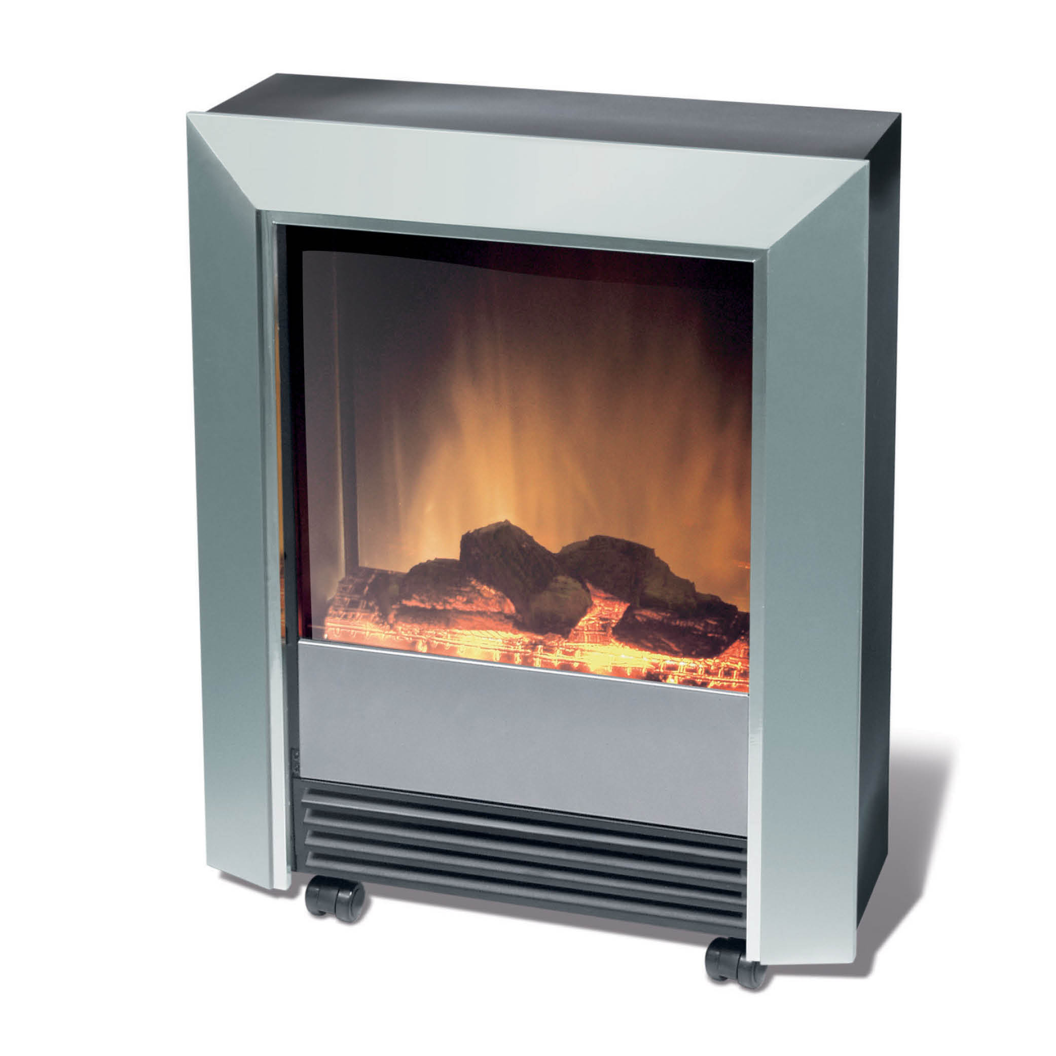 Dimplex Lee Silver 2kw Portable Electric Fire With