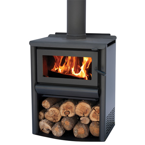 R1500WS - Freestanding Steel Fire with wood stacker