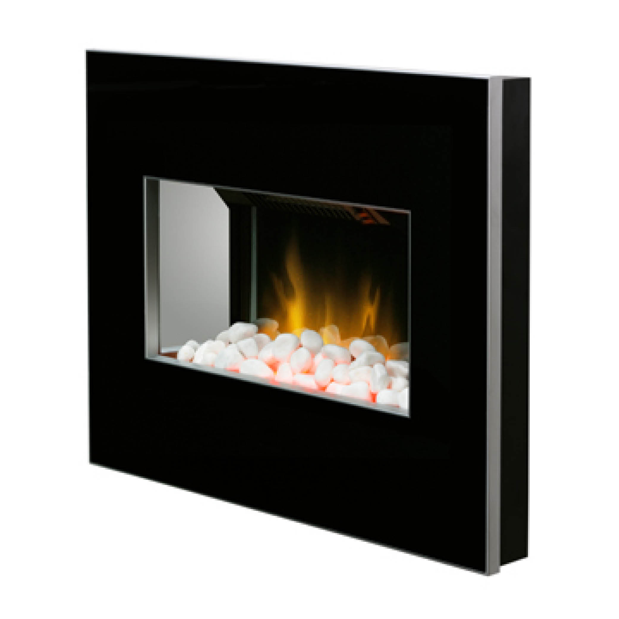 Dimplex Clova Black 2kw Wall Mounted Electric Fire With