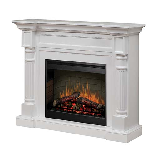 Dimplex Kenton White 2kw Electric Fireplace With Mantel
